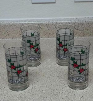 SET OF 4 COLLECTABLE COKE COLA GLASSES for Sale in Federal Heights, CO