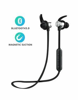 Bluetooth 5.0 Wireless Headphones,TF Card Playback,Magnetic Bluetooth Earbuds, Snug Fit for Running with Mic, Compatible for Sale in Rancho Cucamonga, CA