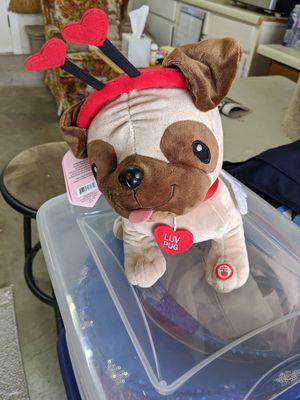 Luv Pug valentine stuffed animal for Sale in San Antonio, TX