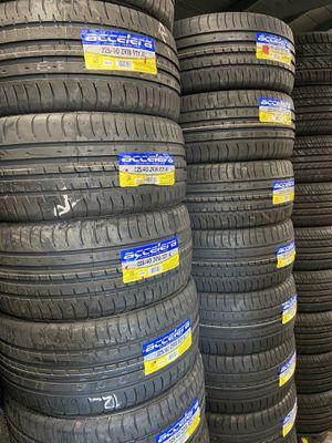 Special Acceleras 225/40/18 $50 each new tires 30k warranty 225/40ZR/18 high performance tires 225/40R/18 for Sale in San Bernardino, CA
