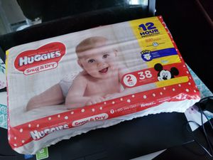 Huggies 2 diapers for Sale in Tacoma, WA
