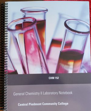 General Chemistry 2 Laboratory Notebook for Sale in Lake Park, NC