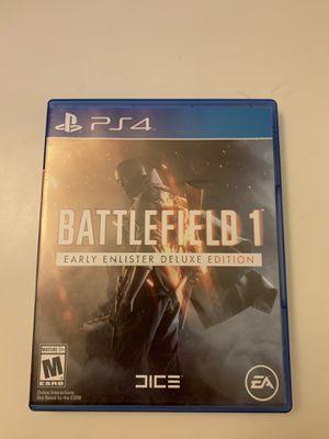 Battlefield 1 Deluxe Edition PS4 for Sale in Los Altos, CA