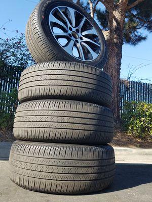 Honda civic rims R17 Honda civic rines R17 black/machined fit 2016 a 2018 civic for Sale in Huntington Park, CA