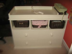 Pottery Barn Sleigh Changing Table with removable changing table for Sale in Rockville, MD