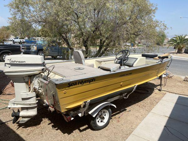 Sea nymph aluminum fishing boat