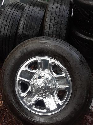 FOUR 8Lug 18 in. rims w/firestone TRANSFORCE HT LT275/70R18 for Sale in Bradenton, FL