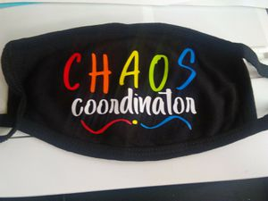 Chaos Coordinator face mask teacher for Sale in York, PA