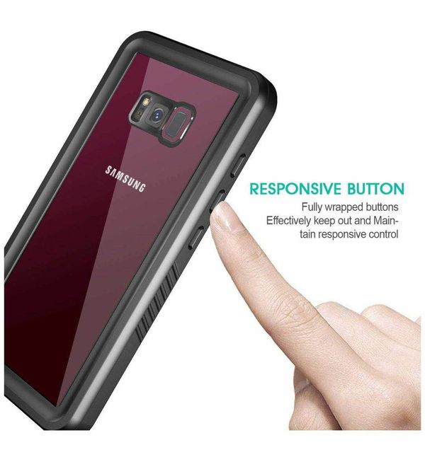 Eonfine Samsung Galaxy S8 Case, Full-Body Protection Waterproof Shockproof Case with Built in Screen Protector for Samsung Galaxy S8 (Black)