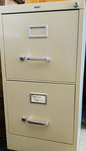 2 drawer metal file cabinet Hirsh for Sale in Phoenix, AZ