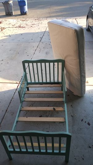 Toddler bed frame and mattressFREE FREE FREE for Sale in Fresno, CA
