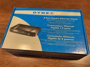 Dynex Ethernet Switch DX-GB8PRT 8-Port for Sale in Monrovia, CA