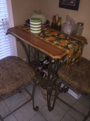Antique Bar table with bottle holders and 2 chairs for Sale in Knightdale, NC