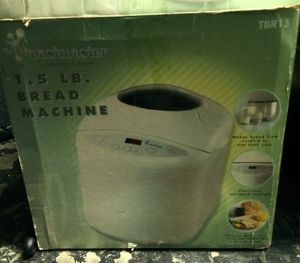 NEW Toastmaster 1.5 LB. Automatic Bread Maker Machine TBR15 White Digital Display for Sale in Largo, FL