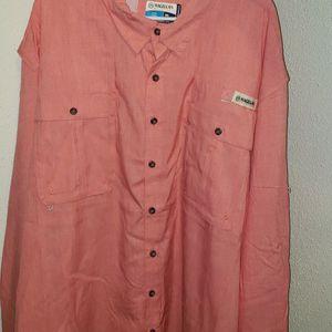 Magellan Outdoors Men's Laguna Madre Solid Long Sleeve Fishing Shirt for Sale in San Antonio, TX