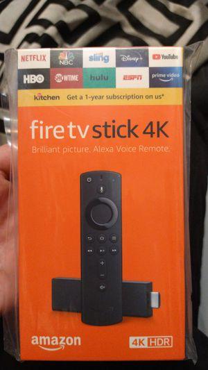 Amazon fire tv stick 4k w/ Alexa voice remote for Sale in Medford, OR