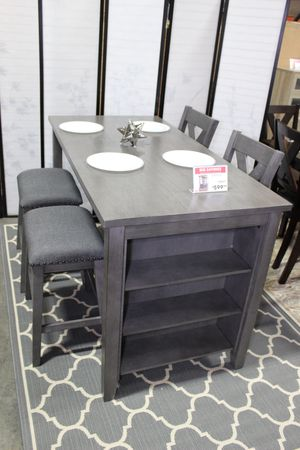 5 PC Counter Height Dining Set with Stools, Grey for Sale in Norwalk, CA