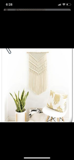 Macrame Bohemian Wall Hanging Cotton Rope Handmade Banner Tapestry Home Decor for Sale in Los Angeles, CA