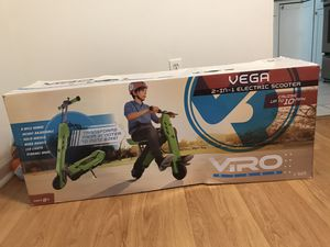 VIRO Rides Vega 2-in-1 Transforming Electric Scooter & Mini Bike, Green for Sale in Glenarden, MD