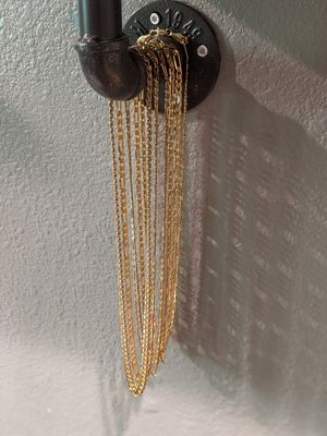 Gold Cuban link chains 18k for Sale in Bremerton, WA