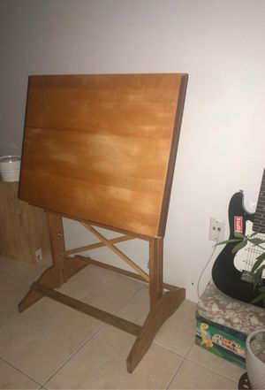 Mid Century Drafting Table/ adjustable. Anco built brand. for Sale in Miami, FL