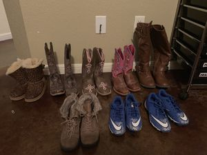 Girl boots/ Boys cleats for Sale in Kempner, TX