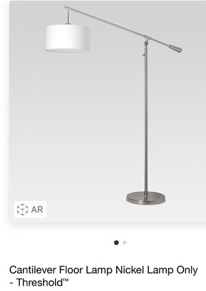 Brand New Cantilever Nickel Floor Lamp by Threshold for Sale in Moreno Valley, CA