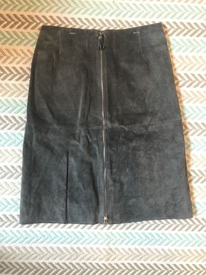 Grey Suede Leather Skirt for Sale in Portland, OR