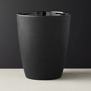 CB2 Rubber Coated Black Wastecan / Trashcan for Sale in Arlington, VA