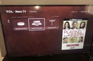 """TCL 4K UHD 55"""" TV + Apple TV SELL OR TRADE for Sale in Renton, WA"""