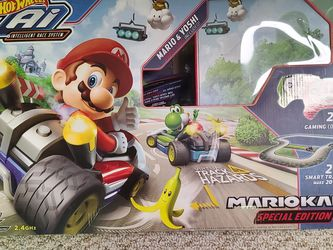 Hot Wheels Ai Mario Kart Special Edition track w 2 cars for Sale in South River,  NJ