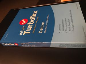 NEW-unopened..sealed TurboTax 2015 for PC and MAC-Deluxe—3 installs for Sale in DeSoto, TX