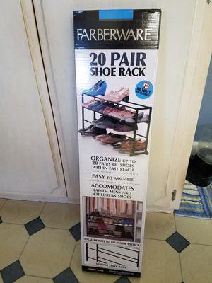 Brand new FIBERWARE 20 pair shoe rack for Sale in Colton, CA
