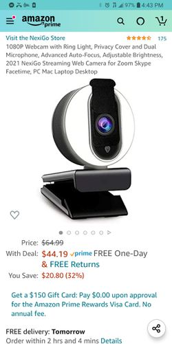 New webcam with ring lights for Sale in Willis,  TX