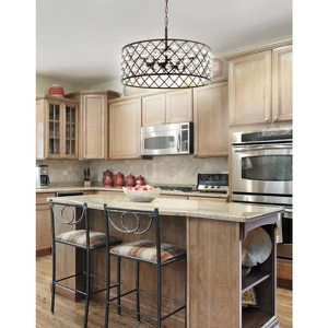 Gabrielle 23 in. 4-Light Oil Rubbed Bronze Crystal/Metal LED Pendant by JONATHAN Y NEW for Sale in Fort Lauderdale, FL