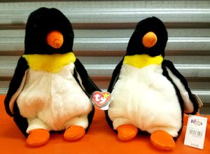 TY The BEANIE BABIES COLLECTION 2 ORIGINAL 1995 WADDLE the PENGUIN Plush ANIMALS (Retired) for Sale for sale  San Diego, CA