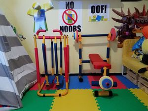Fun & Fitness for Kids Weight Bench and Airwalker for Sale in Bremerton, WA