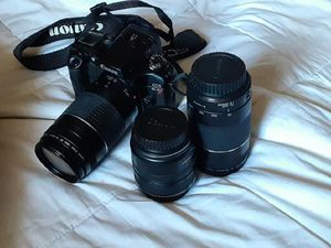 Canon EOS -elan 7 camera with ulta sonic 28-105mm lens for Sale in Encinitas, CA