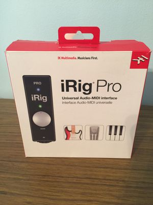 iRig Pro recording interface for Sale in Grantsville, WV
