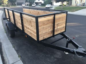 Utility trailer new condition 4' X 12' - SELL OR TRADE for Sale in Salida, CA
