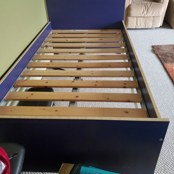 Twin IKEA platform Bed With Slats