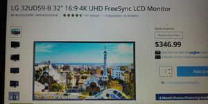 Lg LED 32 4k monitor for Sale in Modesto, CA