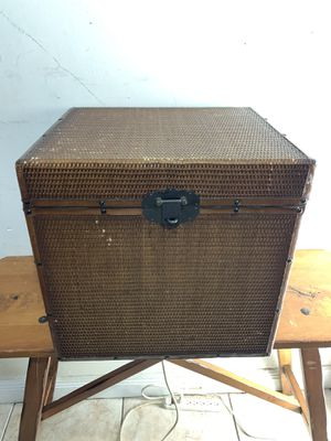 """Wood Wicker Container Storage Box Decoration 18.5""""X16""""X18"""" for Sale in South Miami, FL"""