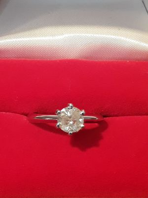 1ct diamond engagement/wedding ring 14k white gold free sizing for Sale in Pomona, CA
