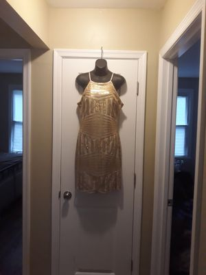 Gold dress size9 for Sale in Milford Mill, MD