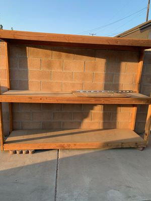 Strong wood shelving unit! for Sale in Chino, CA