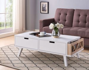 Melody Coffee Table, White and Weathered for Sale in Huntington Beach, CA