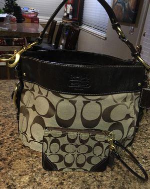 Coach beautiful purse and wrist wallet for Sale in Murrieta, CA