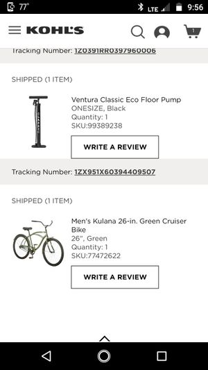 Bike and air pump. I purchased new last year, after surgery I am no longer able to ride a bike for Sale in Frostproof, FL