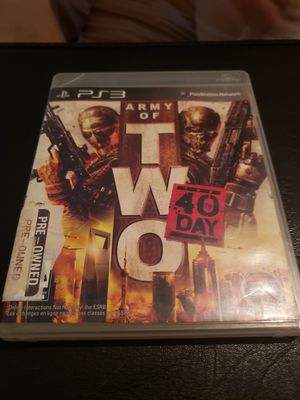 PS3   ARMY OF TWO THE 40TH DAY for Sale in Boiling Springs, SC